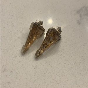 Kendra Scott Gold Crushed Mica Earrings